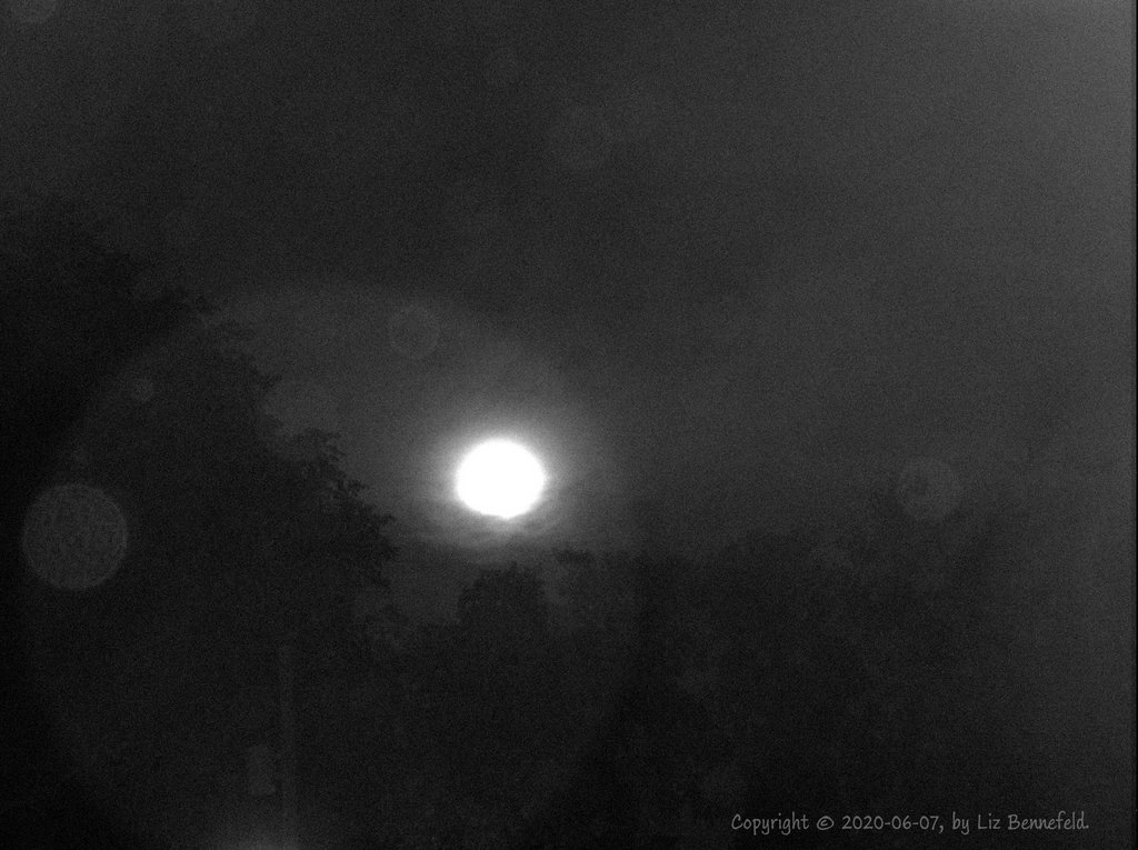 bright moonlight and rain clouds after dark