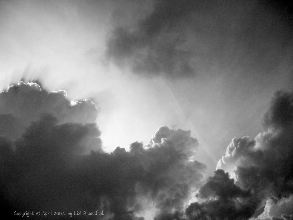 thunderclouds and light