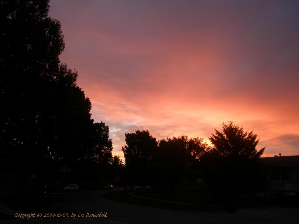 morning's red sky