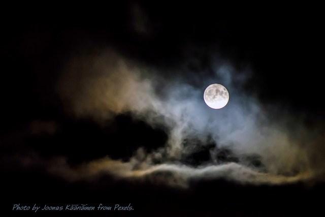 Photo by Joonas Kääriäinen from Pexels. Moon and clouds